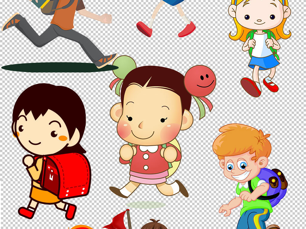 笑脸卡通小猴子卡通人物素描图片卡通小白兔卡通人物