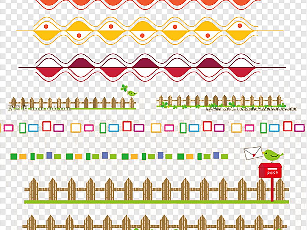 png)花纹边框元素分割线简约大气分割线欧式古典花纹