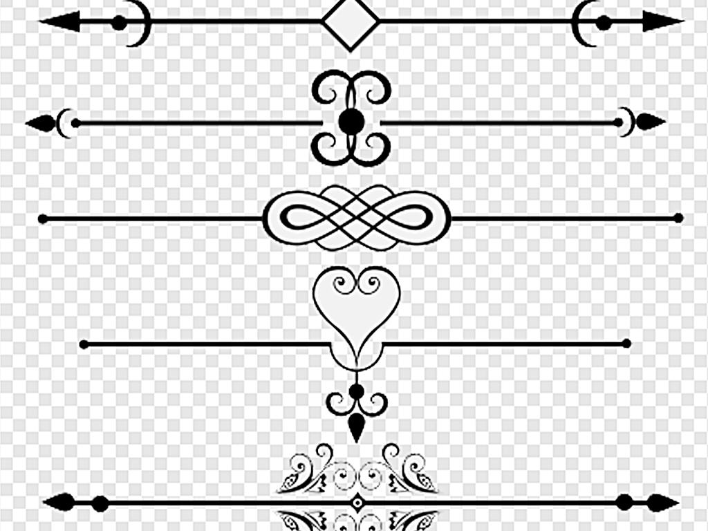 的用符号制作的分割线图片