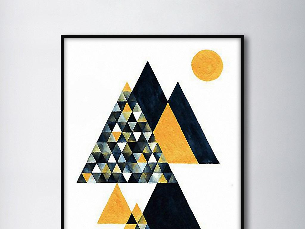 几何欧式欧美北欧美式手绘唯美