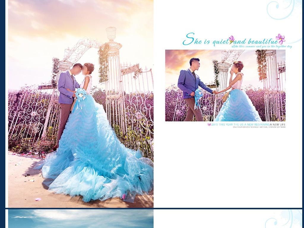 浪漫外景婚纱照模板(图片编号:16095032)