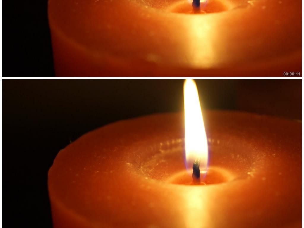 蜡烛燃烧感恩烛光母亲节教师节视频图片