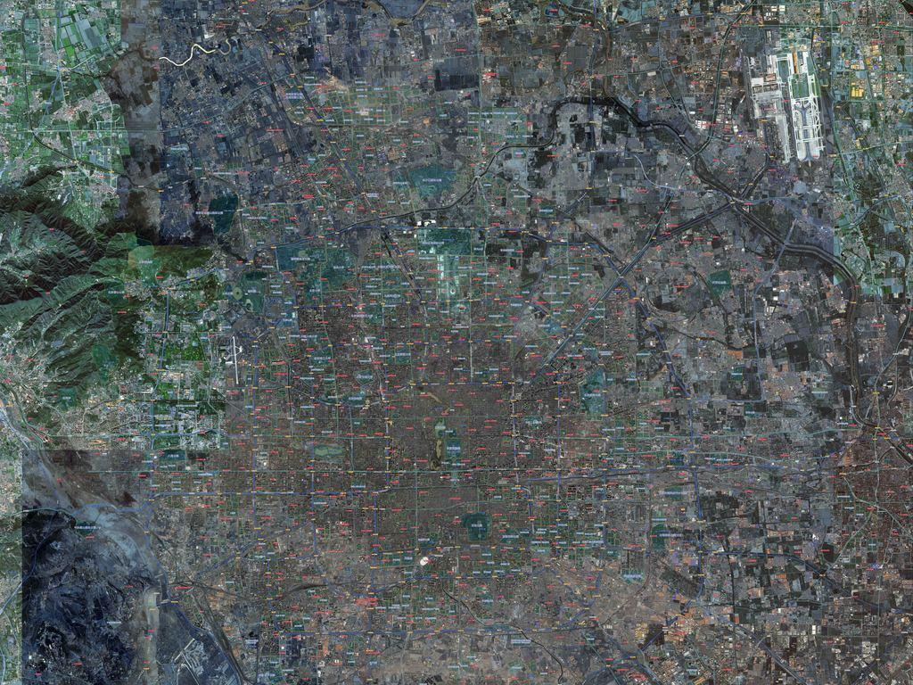 北京市卫星地图