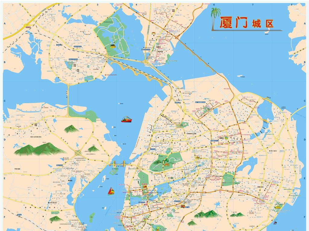 厦门市城区地图