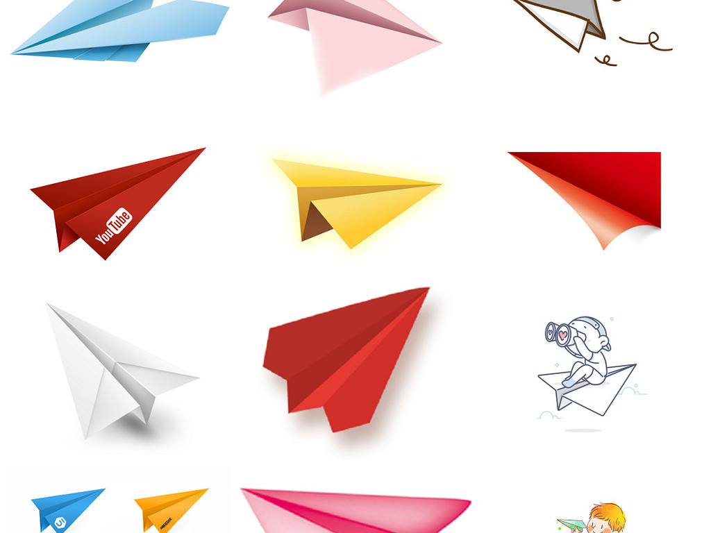 ps纸飞机素材
