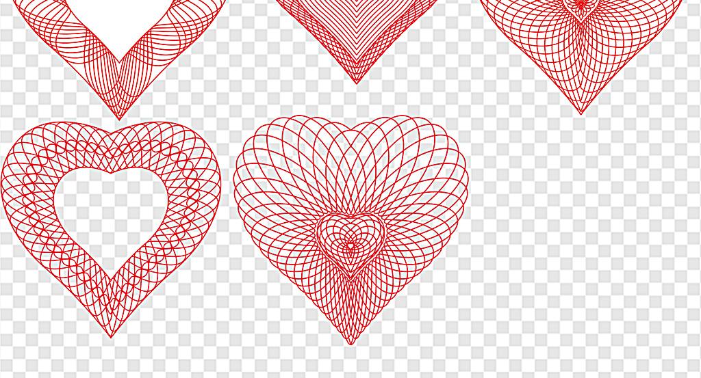 情人节爱心素材心型爱情元素心型边框