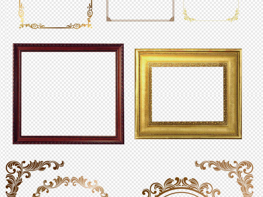 欧式素材边框png矢量花边古典花边花边边框简单花边图案蕾丝花边素材