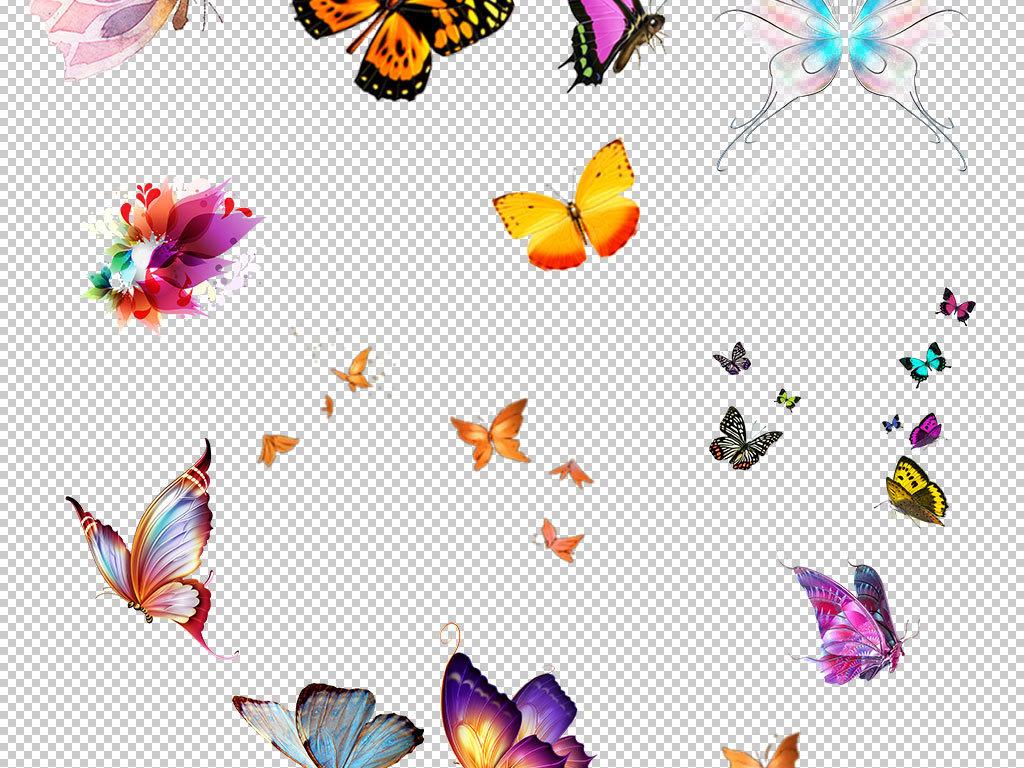 卡通手绘蝴蝶造型设计海报素材