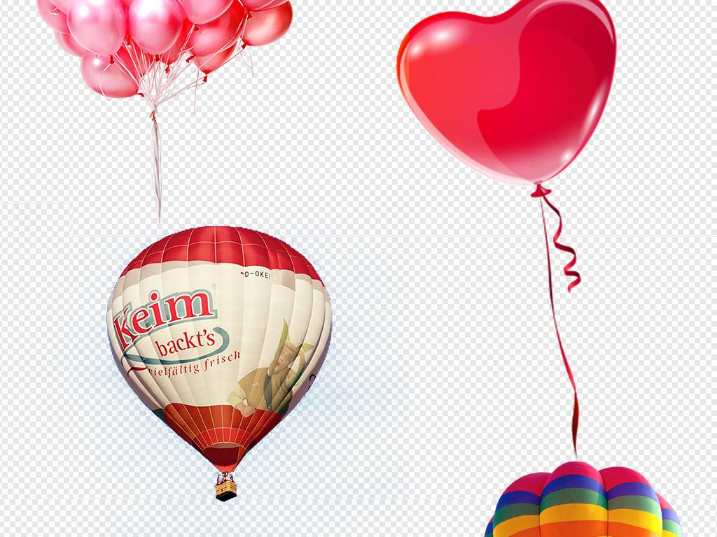 彩色氢气球图片素材集合