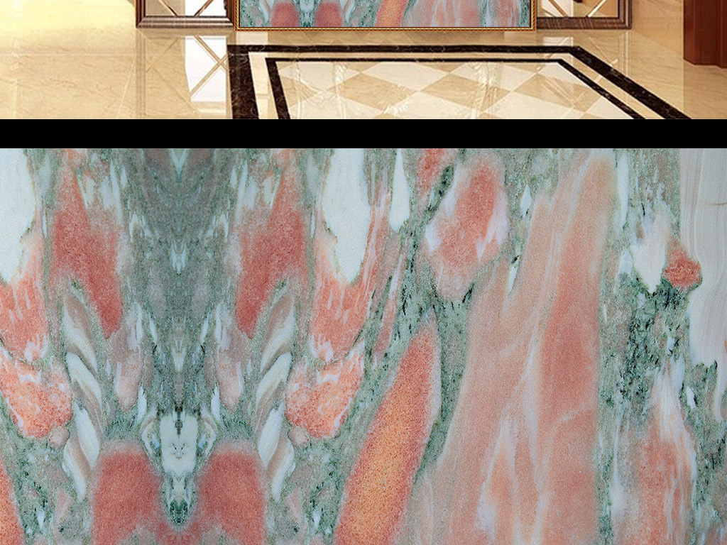 玄关背景墙木板大理石材装饰画过道走廊纹理