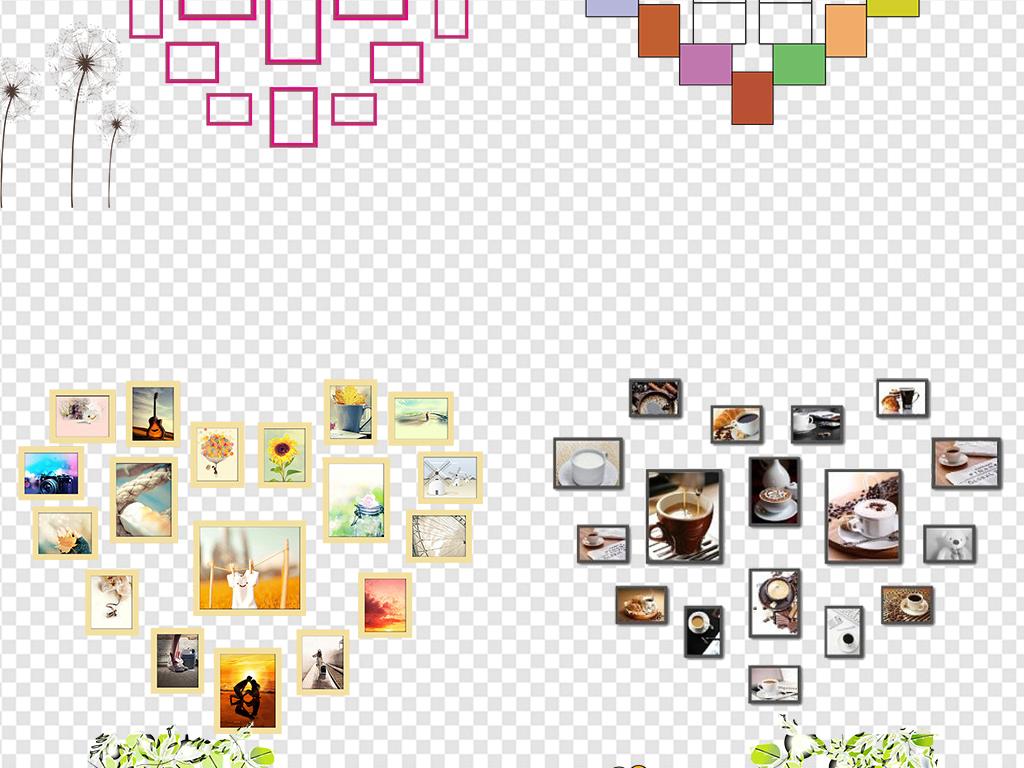墙模版ae照片墙模板                                          心形图片