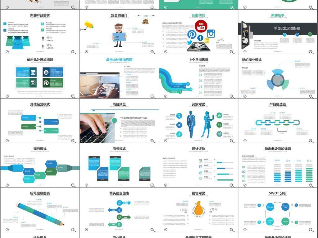 商务企业介绍项目进度总结汇报PPT模板
