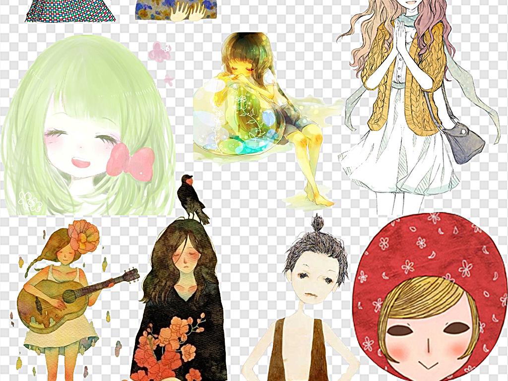 我图网提供精品流行美女插画抽象素材意境素材动漫人物下载,作品模板源文件可以编辑替换,设计作品简介: 美女插画抽象素材意境素材动漫人物 位图, RGB格式高清大图,使用软件为 Photoshop CS4(.png)