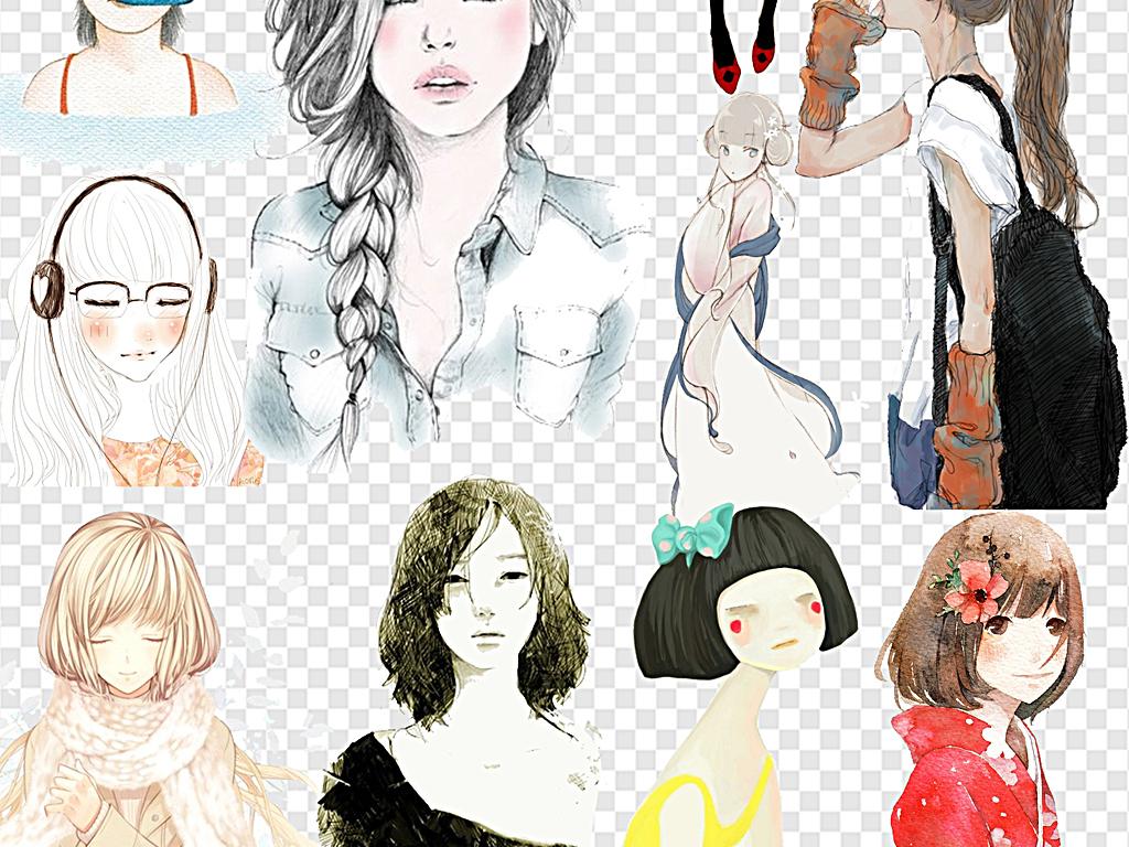 梦幻森系动漫卡通人物图片手绘动漫人物星座动漫人物