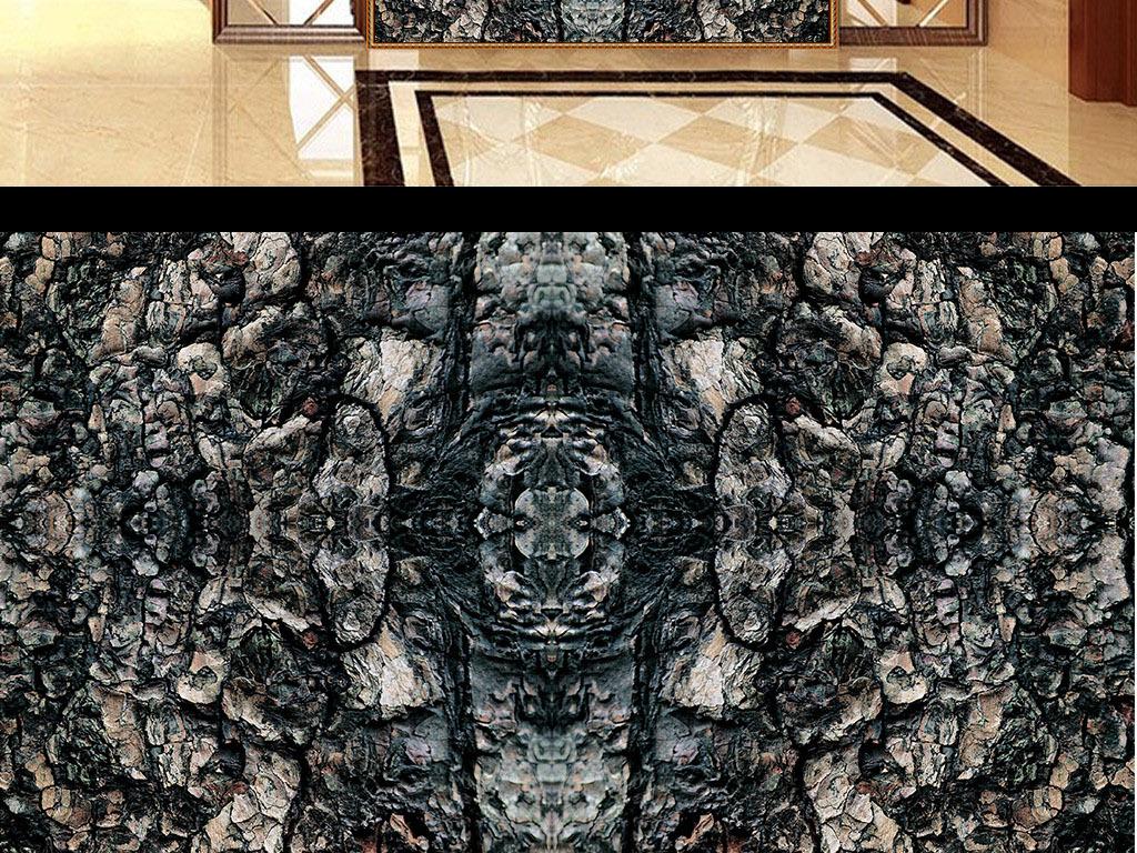 木材树纹理大理石装饰画桌子墙纸玄关背景墙