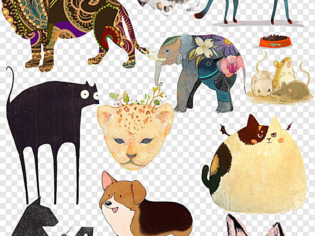 手绘动物                                  可爱小