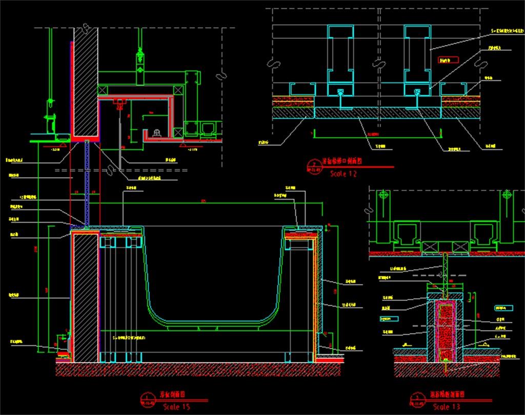 单人房cad装修施工图图片下载dwg素材-建筑图纸-我图网