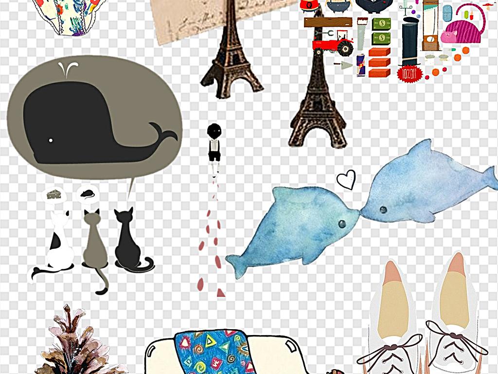 卡通装饰元素相册装饰日系小清新