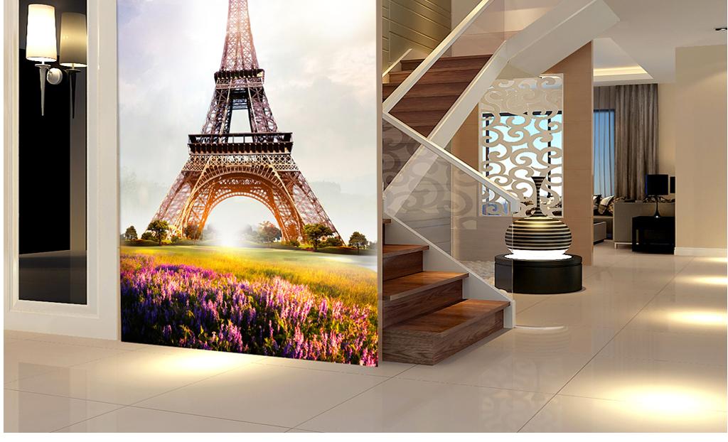 埃菲尔铁塔玄关过道背景墙装饰画