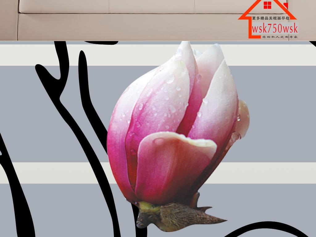 背景墙 装饰画 无框画 植物花卉无框画 > 烤瓷浮雕玉兰花瓶无框画