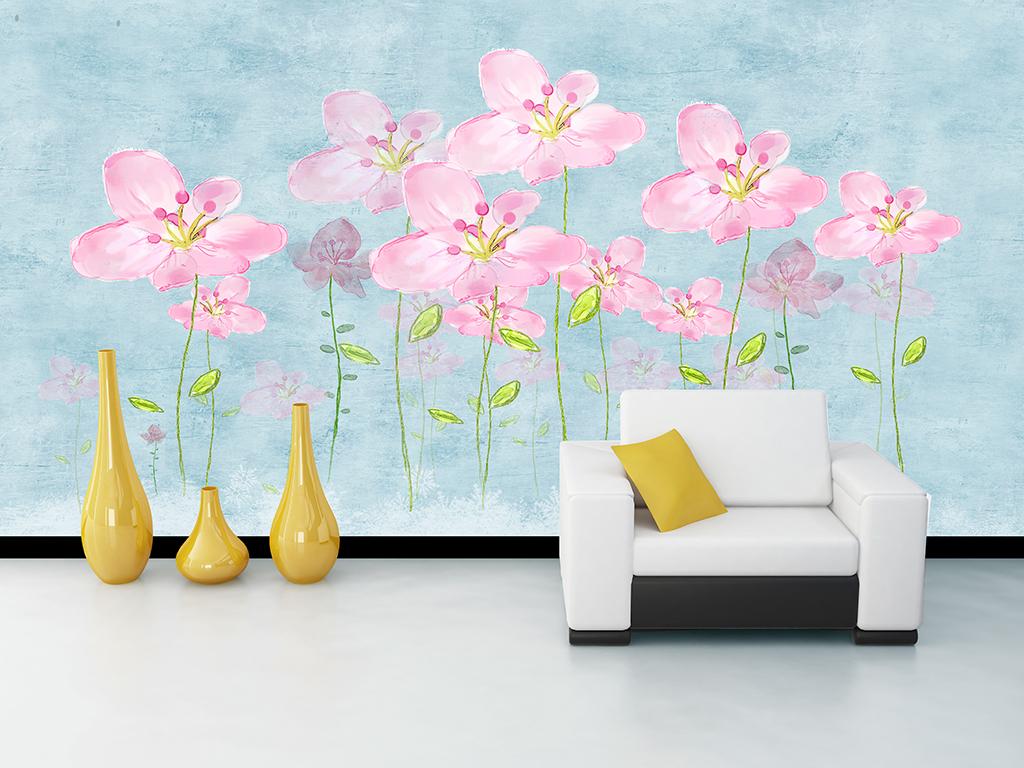 插画梦幻自然花瓣小清新极简文艺个性温馨优雅手绘