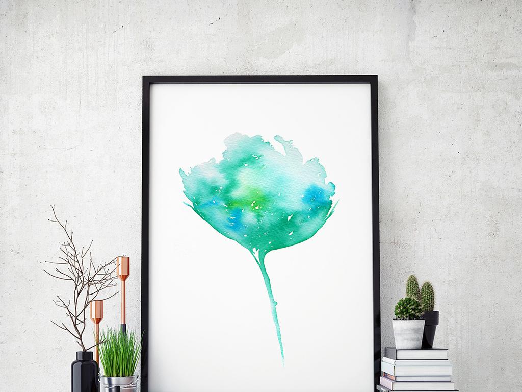 背景墙 装饰画 无框画 植物花卉无框画 > 手绘水彩抽象花卉  版权图片