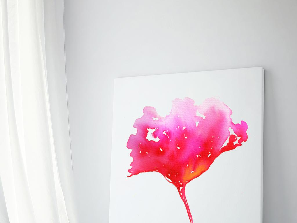 手绘水彩抽象花卉