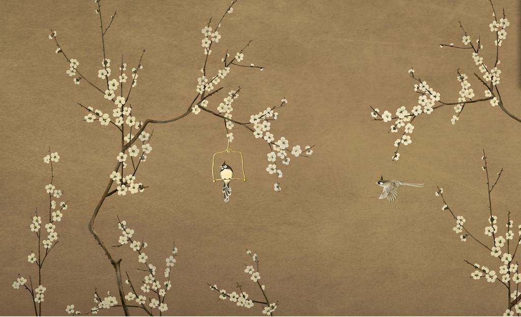 设计作品简介: 手绘花鸟图 位图, cmyk格式高清大图,使用软件为 photo