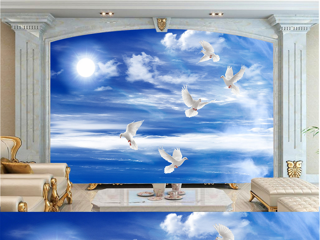 天花板云朵蓝天白云草地蓝天草地吊顶天顶蓝天海鸥蓝天吊顶白云白云图片