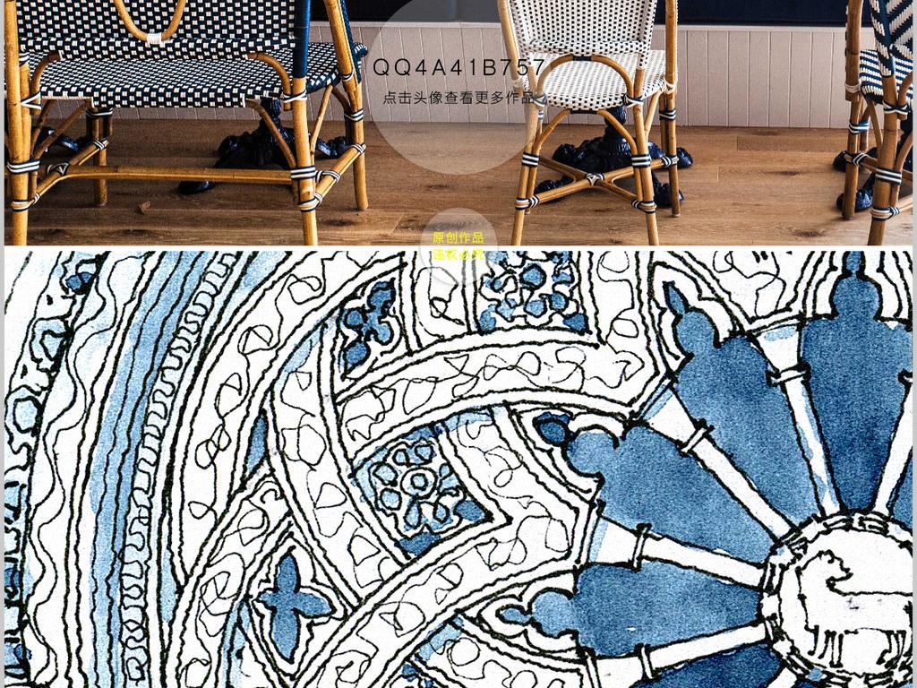 高清欧美建筑喷绘手绘素描装饰画