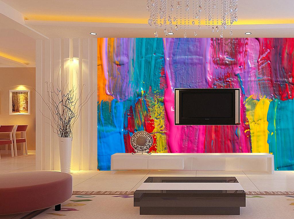 现代欧式客厅电视背景墙3d电视背景墙欧式电视背景墙