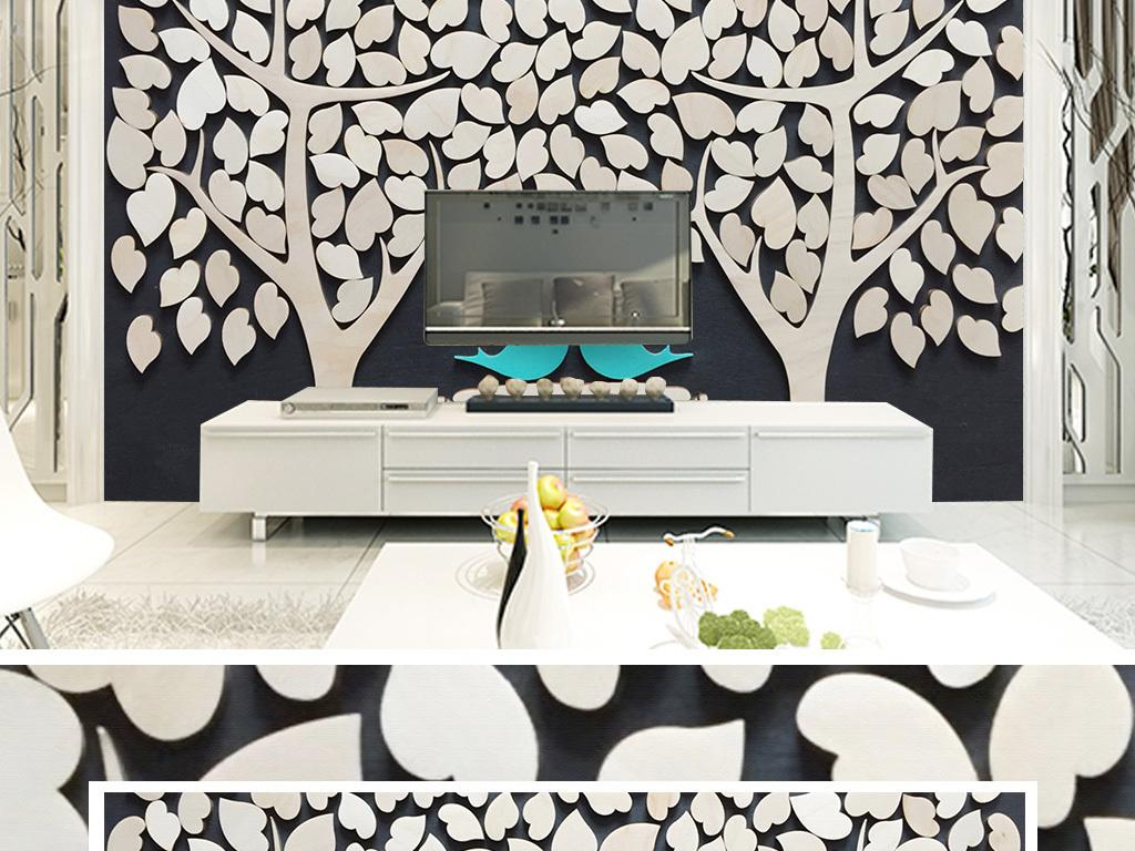 欧式餐厅小鸟壁纸