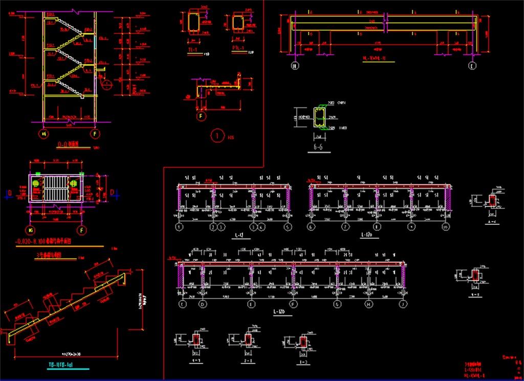 两层底框结构cad施工图