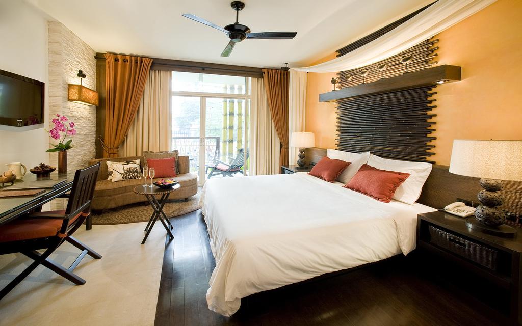 时尚卧室装修效果图客房家居睡房图