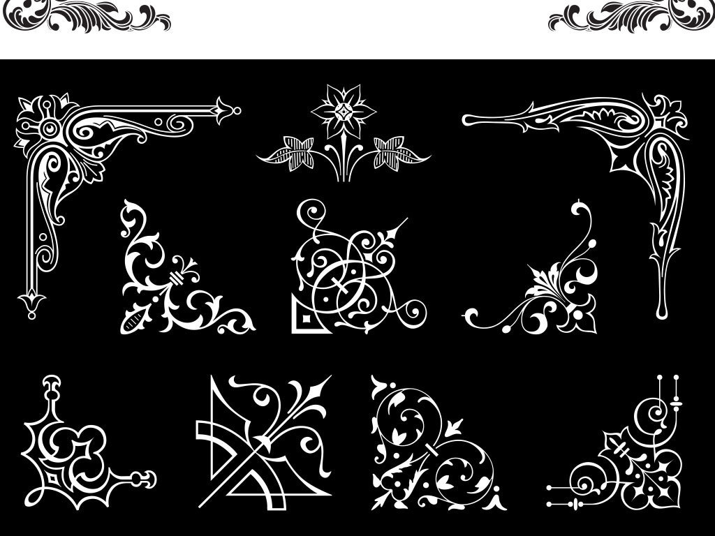 卡通手绘黑色创意边框设计图