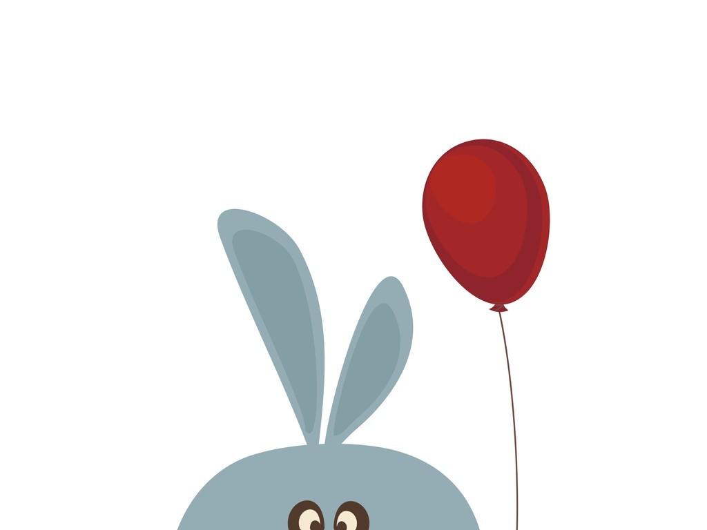 卡通动物兔子气球