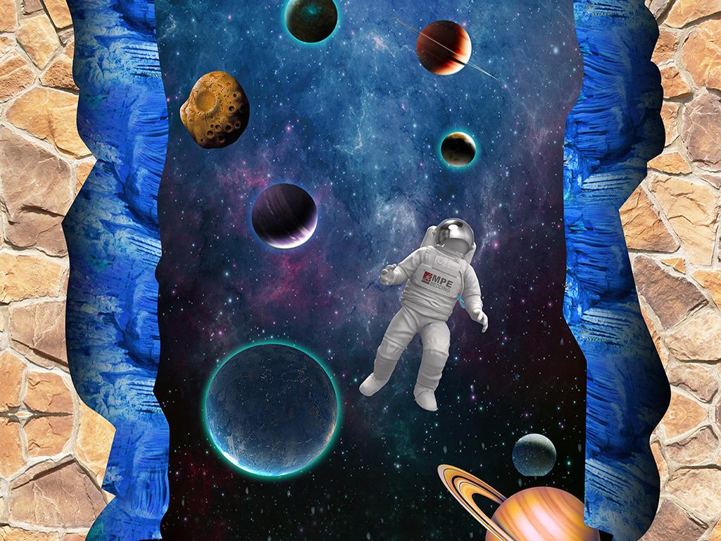 宇宙星空3d立体画地画(图片编号:16111070)_3d海洋_我