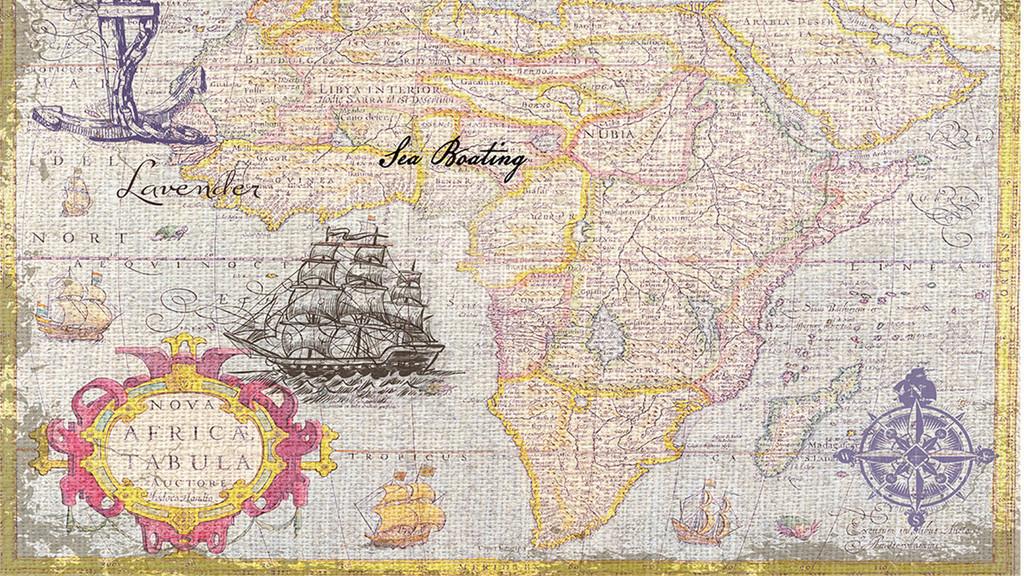 航海图复古世界地图