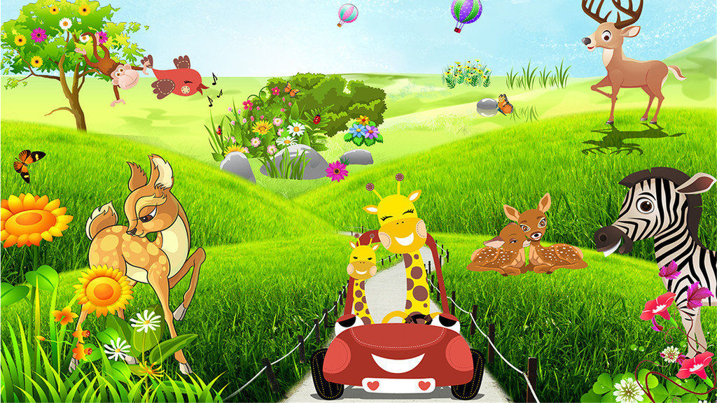 卡通动物乐园背景(图片编号:16111268)
