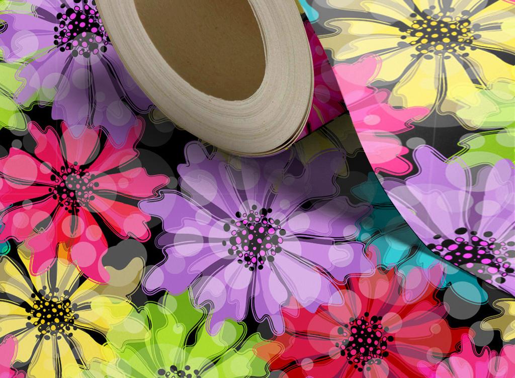 梦幻水彩手绘花朵背景