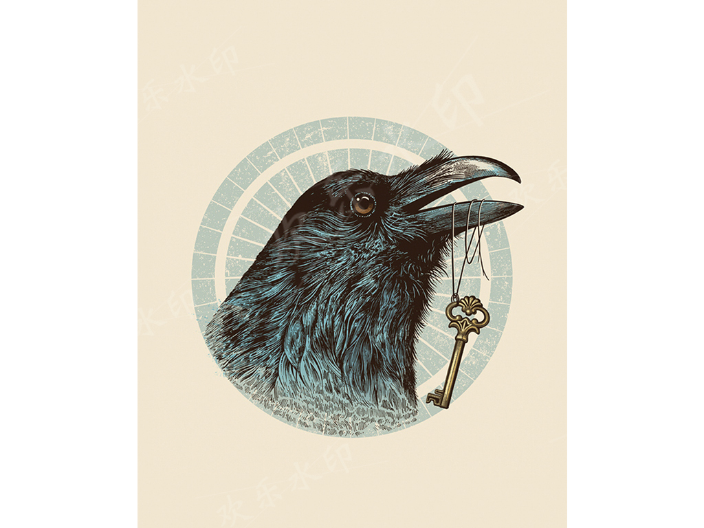 鹰鸟动物单色纯洁简约手机壳手机套高清模板