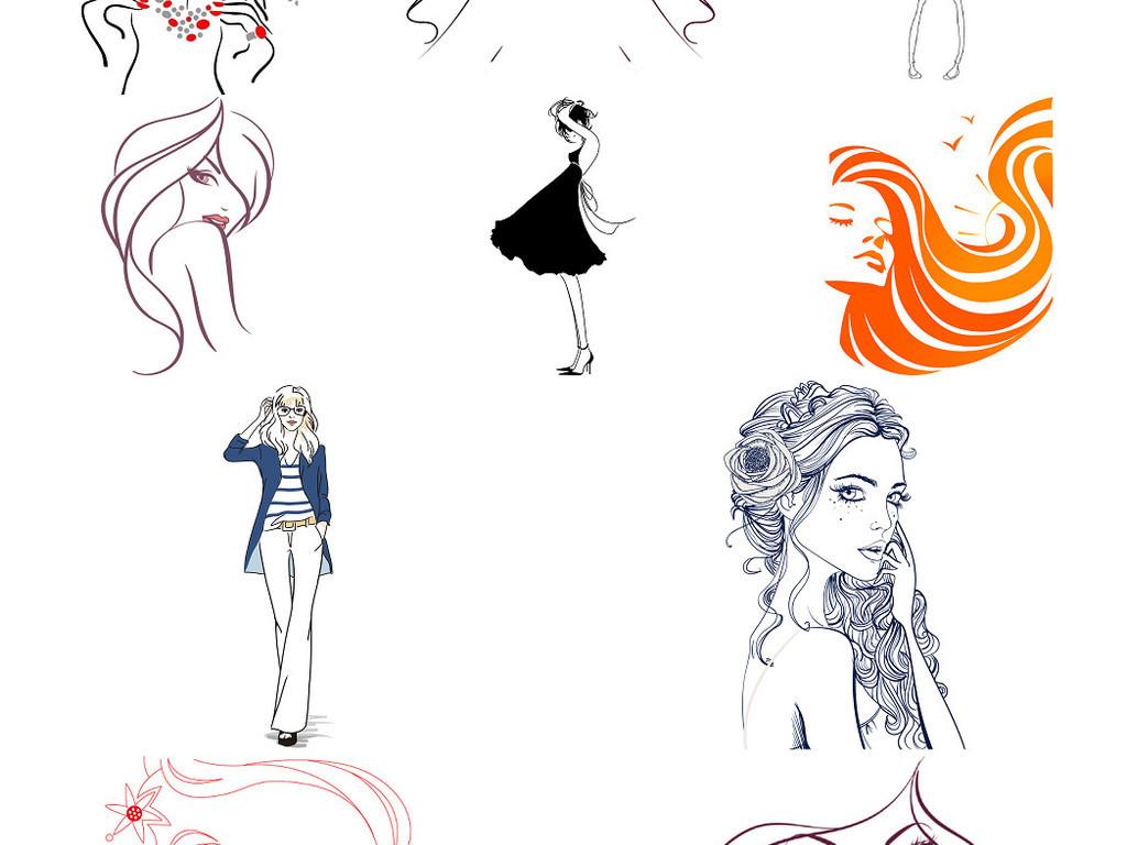 发廊pop手绘图海报