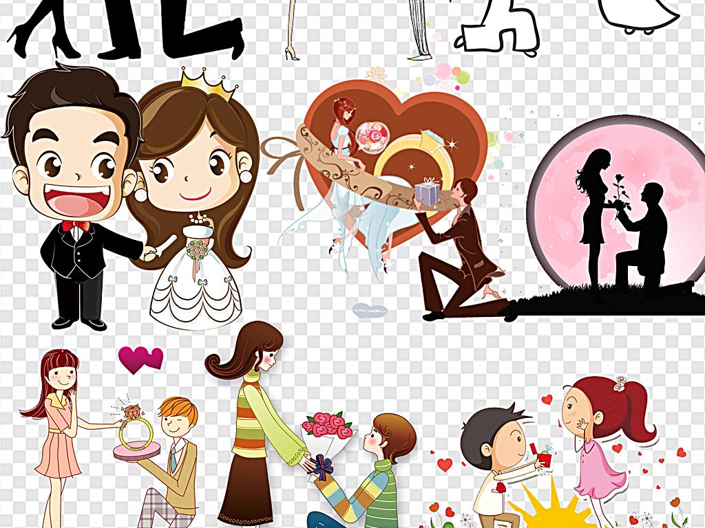 我图网提供精品流行卡通求婚情侣情侣求婚浪漫求婚素材下载,作品模板源文件可以编辑替换,设计作品简介: 卡通求婚情侣情侣求婚浪漫求婚 位图, RGB格式高清大图,使用软件为 Photoshop CS4(.png) 求婚男女