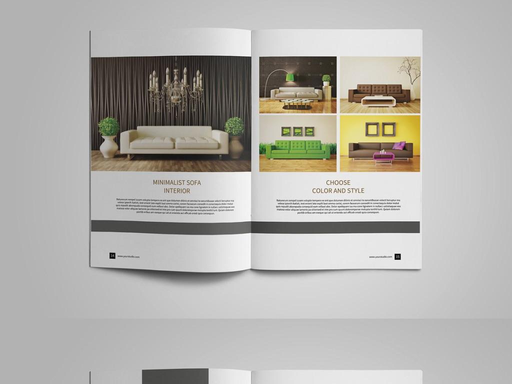 画册 产品画册(整套) > 家居室内设计公司企业宣传画册排版模板设计图片