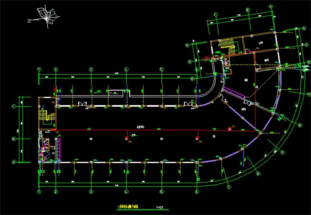 宿舍楼CAD给排水施工图