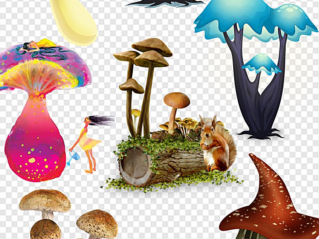 卡通蘑菇蘑菇街手绘蘑菇小蘑菇蘑菇房子
