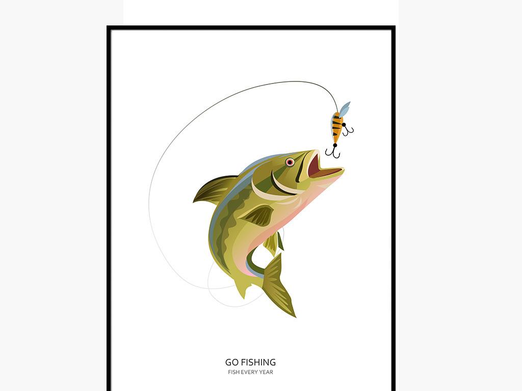 动物图案钓鱼现代城市现代科技现代简约现代画现代简约电视背景墙现代