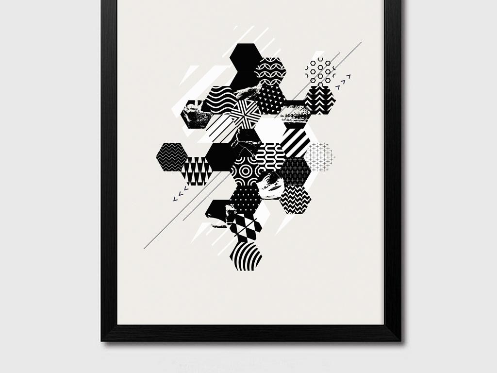 36时尚唯美大气创意图形图像几何装饰画下载
