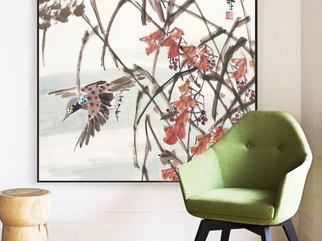 2中国风花鸟装饰画图片设计素材_高清模板下载(75.66)
