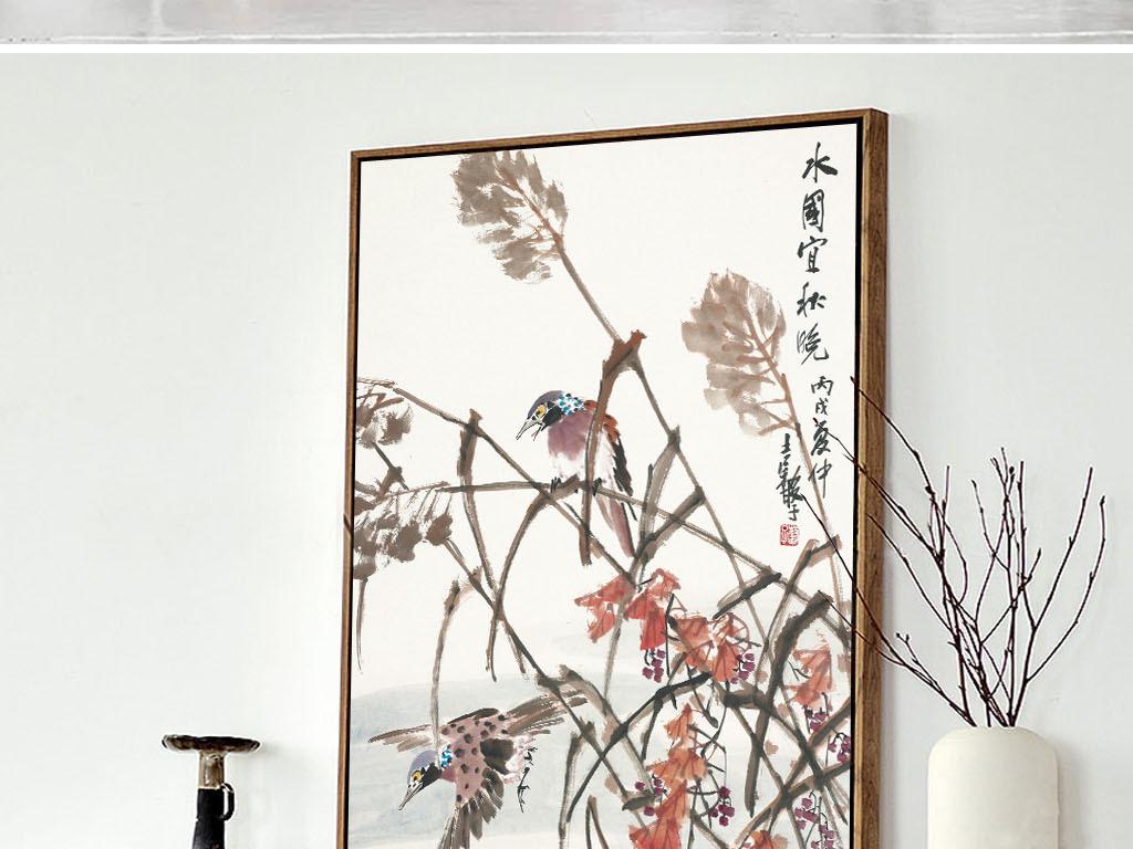 2中国风花鸟装饰画